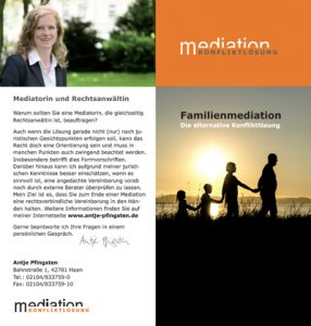 Flyer Familienmediation Antje Pfingsten