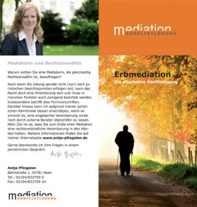 Flyer Erbmediation Antje Pfingsten