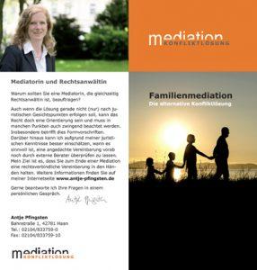 Flyer Familienmediation Antje Pfingsten